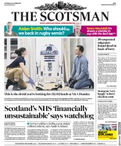 The Scotsman (UK) Newspaper Front Page for 24 October 2019