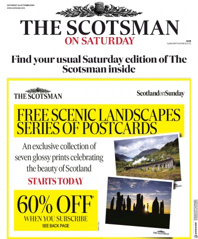 The Scotsman Newspaper Front Page (UK) for 24 October 2020