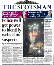The Scotsman (UK) Newspaper Front Page for 24 November 2014