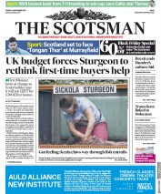 The Scotsman (UK) Newspaper Front Page for 24 November 2017