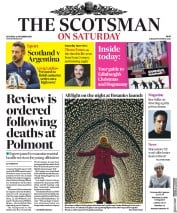 The Scotsman (UK) Newspaper Front Page for 24 November 2018