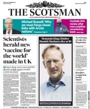 The Scotsman front page for 24 November 2020
