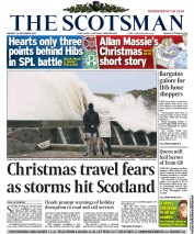 The Scotsman Newspaper Front Page (UK) for 24 December 2012