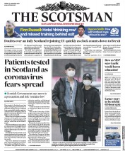 The Scotsman (UK) Newspaper Front Page for 24 January 2020