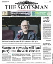 The Scotsman (UK) Newspaper Front Page for 24 February 2020