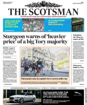 The Scotsman (UK) Newspaper Front Page for 24 April 2017