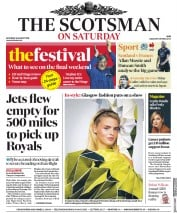 The Scotsman (UK) Newspaper Front Page for 24 August 2019