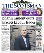 The Scotsman (UK) Newspaper Front Page for 25 October 2014