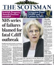 The Scotsman (UK) Newspaper Front Page for 25 November 2014