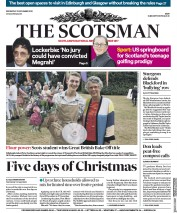 The Scotsman front page for 25 November 2020