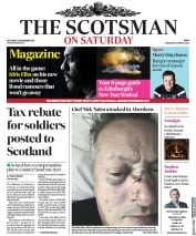 The Scotsman (UK) Newspaper Front Page for 25 December 2017