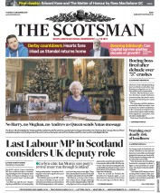 The Scotsman (UK) Newspaper Front Page for 25 December 2019