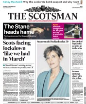The Scotsman (UK) Newspaper Front Page for 25 December 2020
