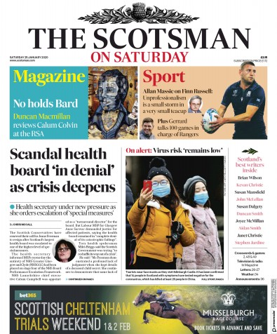 The Scotsman Newspaper Front Page (UK) for 25 January 2020