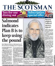 The Scotsman () Newspaper Front Page for 25 February 2014