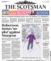 The Scotsman (UK) Newspaper Front Page for 25 February 2020