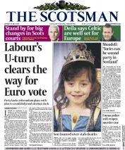 The Scotsman (UK) Newspaper Front Page for 25 May 2015