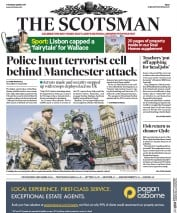 The Scotsman (UK) Newspaper Front Page for 25 May 2017