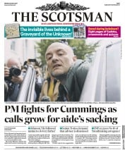 The Scotsman front page for 25 May 2020