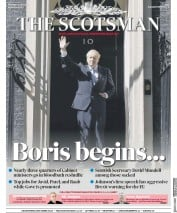 The Scotsman (UK) Newspaper Front Page for 25 July 2019