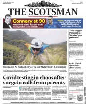 The Scotsman (UK) Newspaper Front Page for 25 August 2020