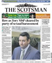 The Scotsman (UK) Newspaper Front Page for 25 September 2018