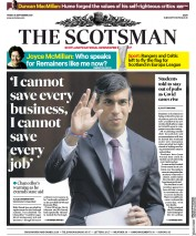 The Scotsman (UK) Newspaper Front Page for 25 September 2020