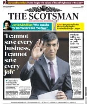 The Scotsman front page for 25 September 2020