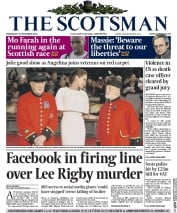 The Scotsman (UK) Newspaper Front Page for 26 November 2014