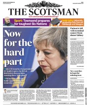 The Scotsman (UK) Newspaper Front Page for 26 November 2018
