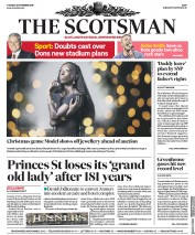 The Scotsman (UK) Newspaper Front Page for 26 November 2019