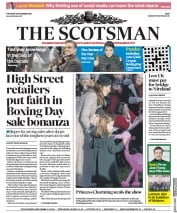 The Scotsman (UK) Newspaper Front Page for 26 December 2019
