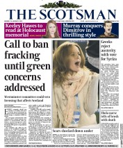 The Scotsman (UK) Newspaper Front Page for 26 January 2015