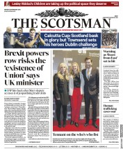 The Scotsman (UK) Newspaper Front Page for 26 February 2018