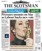 The Scotsman () Newspaper Front Page for 26 February 2019