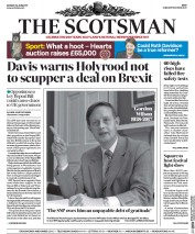 The Scotsman (UK) Newspaper Front Page for 26 June 2017