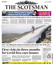 The Scotsman front page for 26 June 2020