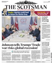 The Scotsman () Newspaper Front Page for 26 August 2019