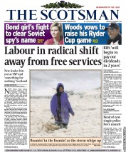 The Scotsman Newspaper Front Page (UK) for 26 September 2012