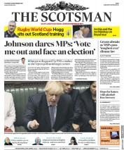 The Scotsman (UK) Newspaper Front Page for 26 September 2019