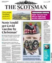 The Scotsman front page for 27 October 2020