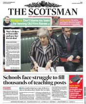 The Scotsman (UK) Newspaper Front Page for 27 November 2018