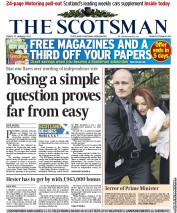 The Scotsman () Newspaper Front Page for 27 January 2012