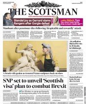 The Scotsman (UK) Newspaper Front Page for 27 January 2020