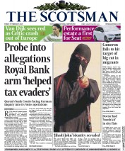 The Scotsman (UK) Newspaper Front Page for 27 February 2015
