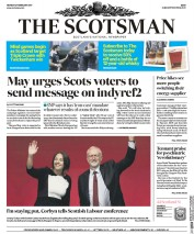 The Scotsman (UK) Newspaper Front Page for 27 February 2017