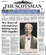 The Scotsman (UK) Newspaper Front Page for 27 February 2020