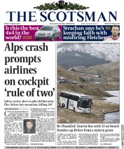 The Scotsman (UK) Newspaper Front Page for 27 March 2015