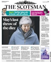 The Scotsman (UK) Newspaper Front Page for 27 March 2019
