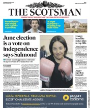 The Scotsman (UK) Newspaper Front Page for 27 April 2017